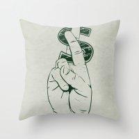 In Cash We Trust. Throw Pillow