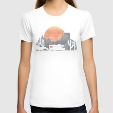 Trail of the dusty road Womens Fitted Tee White SMALL
