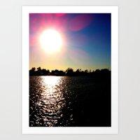 Sunrays Art Print