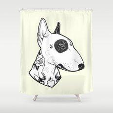 Bull Terrier Dog Tattooe… Shower Curtain