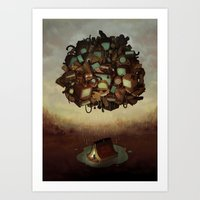 Clever Camping Art Print