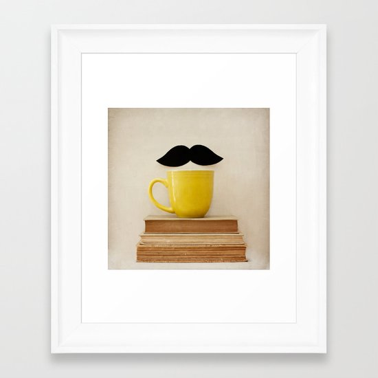 Mr. Stache  Framed Art Print