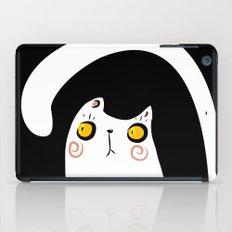 Dark Night White Cat iPad Case