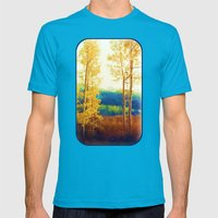 Faded Aspens Mens Fitted Tee Teal SMALL