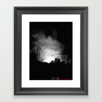 Coming Out Of The Darkne… Framed Art Print