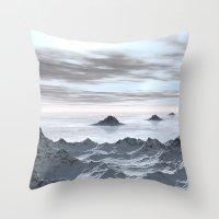 Frozen Arctic Sea Throw Pillow