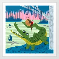 The Alligator And The Ar… Art Print