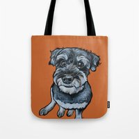Frankie The Schnoodle Tote Bag