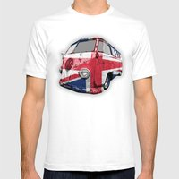 VW UK Flag Mens Fitted Tee White SMALL