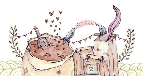 Coffee Page Art Print