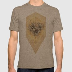 Cactus Flowers Mens Fitted Tee Tri-Coffee SMALL