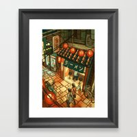 Ramen In The Alley Framed Art Print
