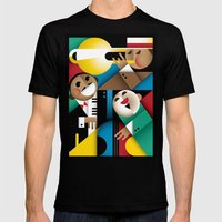 Jazz Mens Fitted Tee Black SMALL