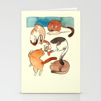 kitty card Stationery Cards