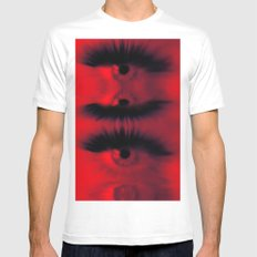 EYE AM All Seeing Mens Fitted Tee SMALL White