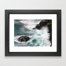Atlantic Coast, Cornwall UK Framed Art Print