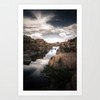 Watson Lake Art Print