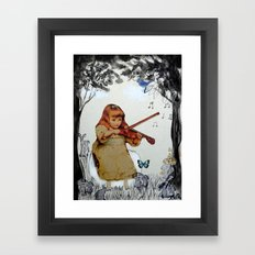SHE PRACTISED IN THE GAR… Framed Art Print