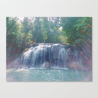 Turquoise Waterfall Canvas Print