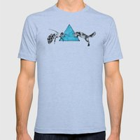 Headlock, wasp and fox Mens Fitted Tee Athletic Blue SMALL