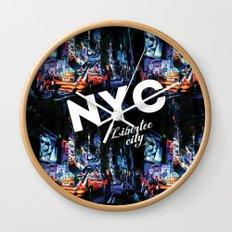 NEW-YORK (LIBERTEE CITY) Wall Clock