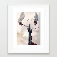bleeding cactus  Framed Art Print