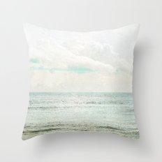 Silvery Seas Throw Pillow