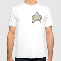 Star Trek, Communicator,… Mens Fitted Tee White SMALL