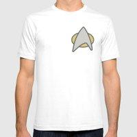 Star Trek, Communicator,… Mens Fitted Tee White SMALL