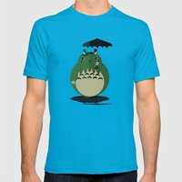 My Neighbor Cthulu Mens Fitted Tee Teal SMALL
