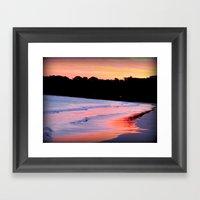 Sunset Over The Ocean Framed Art Print
