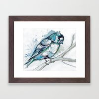 Cold Feet Framed Art Print