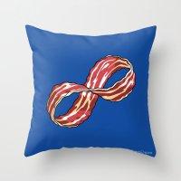 Infinite Bacon Throw Pillow