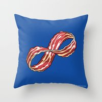 Infinite Bacon Throw Pillow