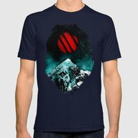 A Paramount Vision Mens Fitted Tee Navy SMALL
