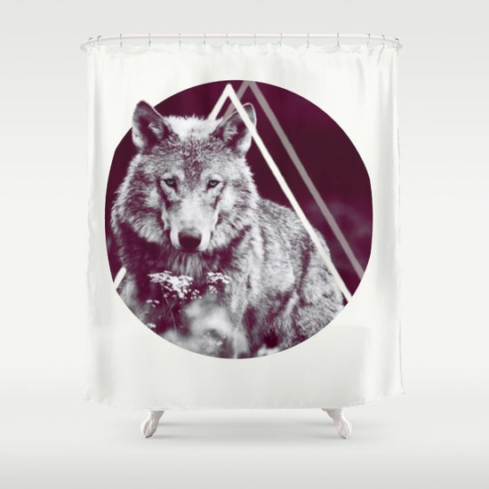 WOLF I Shower Curtain