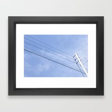 Telephone Pole Framed Art Print