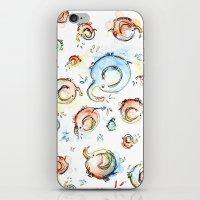 Elephants Pattern Waterc… iPhone & iPod Skin