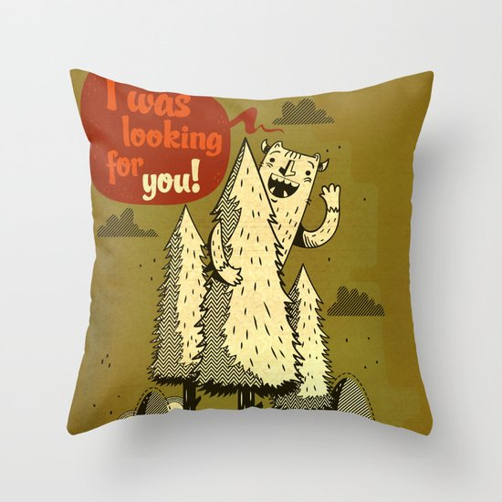 The Woods Monster. Throw Pillow