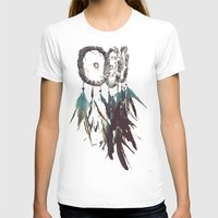 DreamCatcher Womens Fitted Tee White SMALL