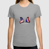 United We Stand Womens Fitted Tee Tri-Grey SMALL