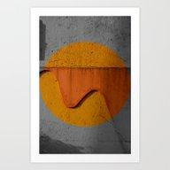 The Wall's Sun Art Print