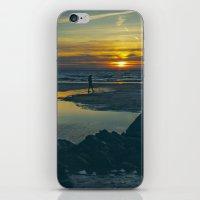 Walking At Sunset iPhone & iPod Skin