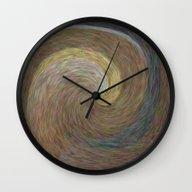 Amber Wave Wall Clock
