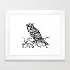 Owl Drawing July 2015 Framed Art Print