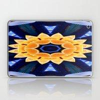 Orange Flower Mandala Laptop & iPad Skin
