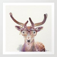 Study Deer Art Print