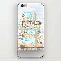 BEACH BUNNY iPhone & iPod Skin