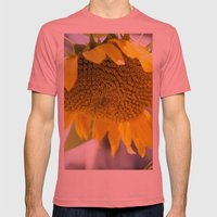 Take Cover [SUNFLOWER] Mens Fitted Tee Pomegranate SMALL