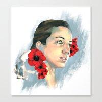 Poppy Of The Sea Canvas Print